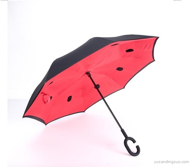 反向伞创意双层反向直杆伞