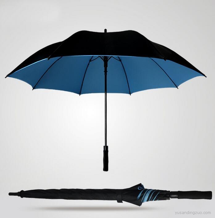 汽车伞直杆高尔夫伞定制 超强抗暴风雨双层超大雨伞