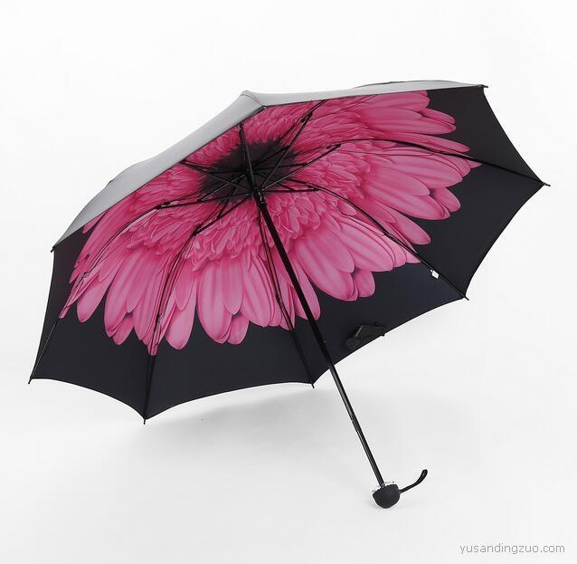 黑胶晴雨伞 浅妃粉