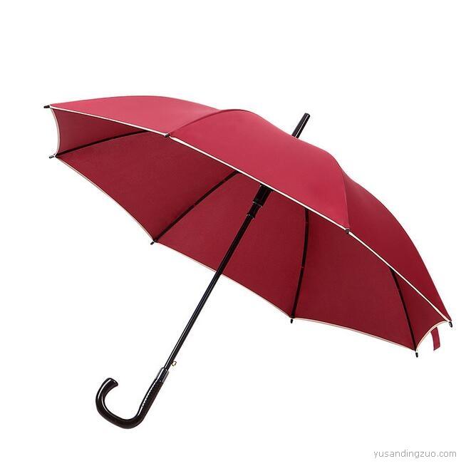 弯柄直杆长伞8骨雨伞