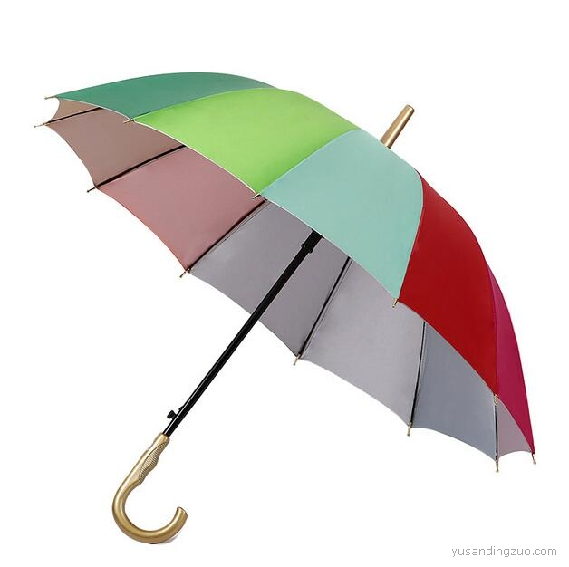 弯柄彩虹伞