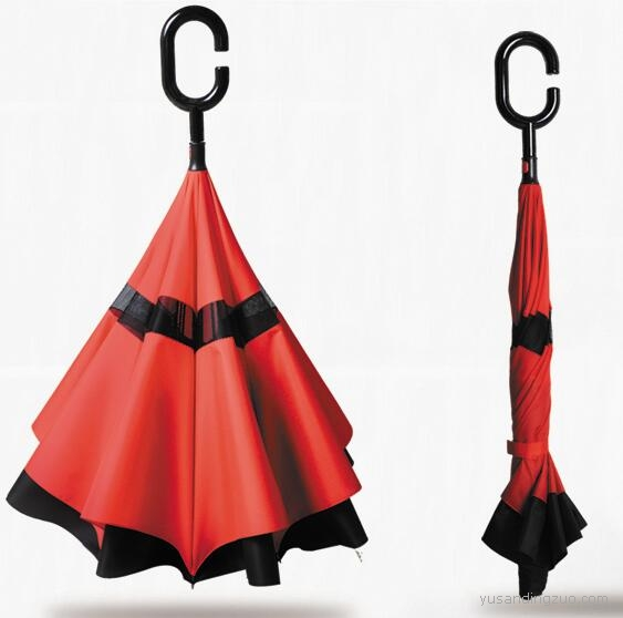 免持超大长柄伞 反向伞定制