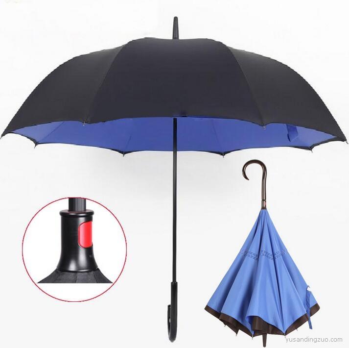 创意免持式反向雨伞